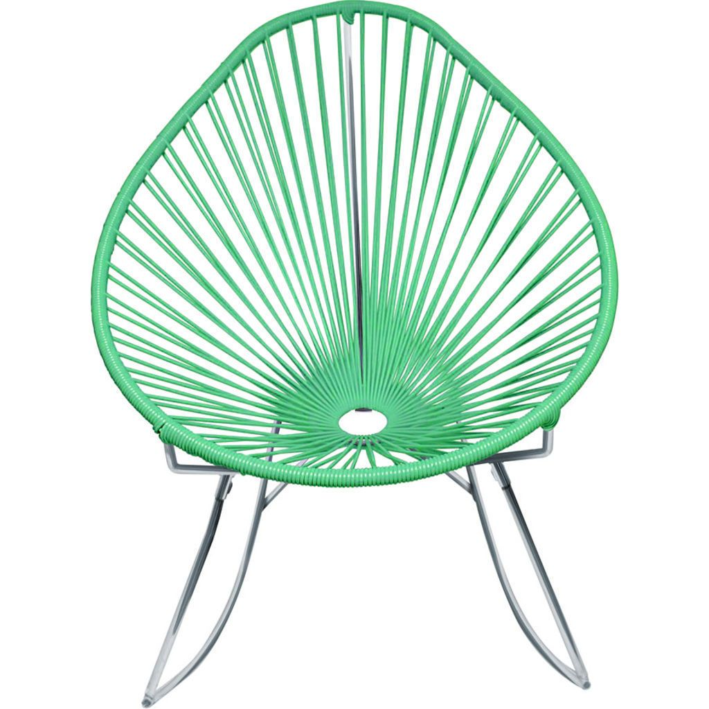 Innit Designs Junior Acapulco Rocker Chair | Chrome/Mint