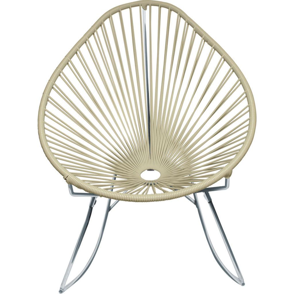 Innit Designs Junior Acapulco Rocker Chair | Chrome/Ivory