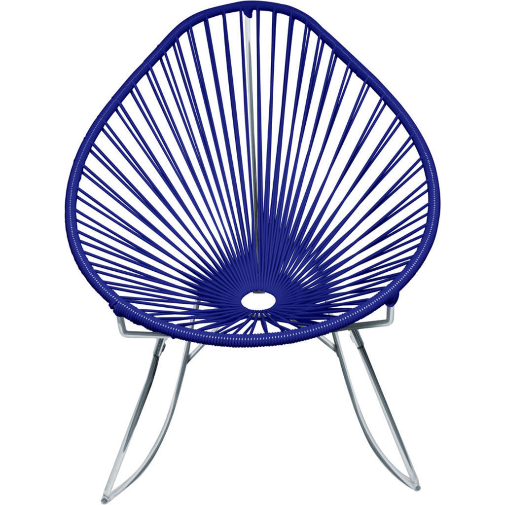 Innit Designs Junior Acapulco Rocker Chair | Chrome/Deep Blue