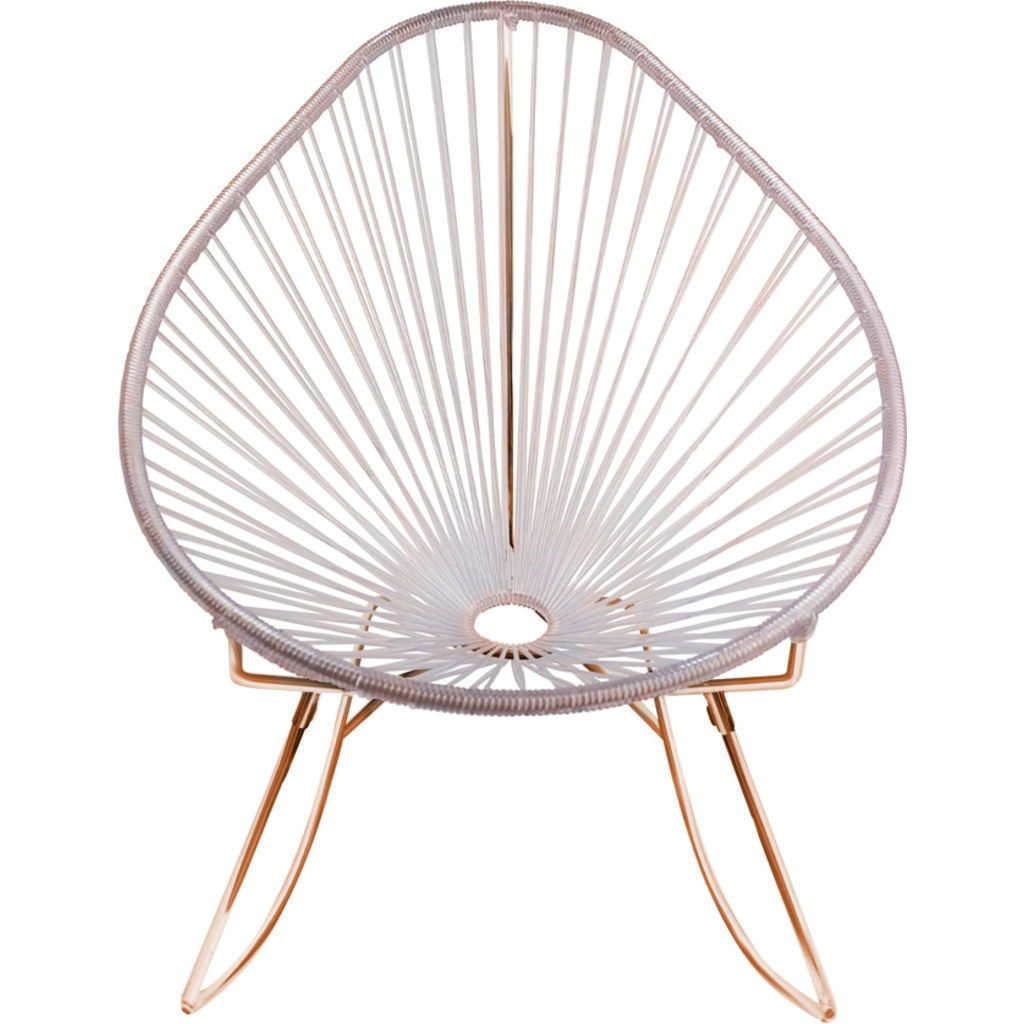 Innit Designs Junior Acapulco Rocker Chair | Copper/Clear