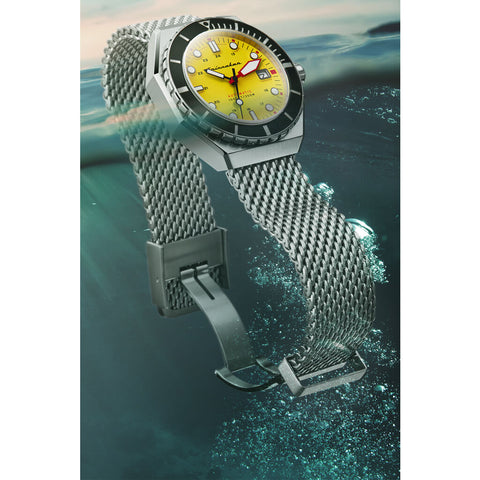 Spinnaker Dumas SP-5081-44 Automatic Watch | Yellow/Steel
