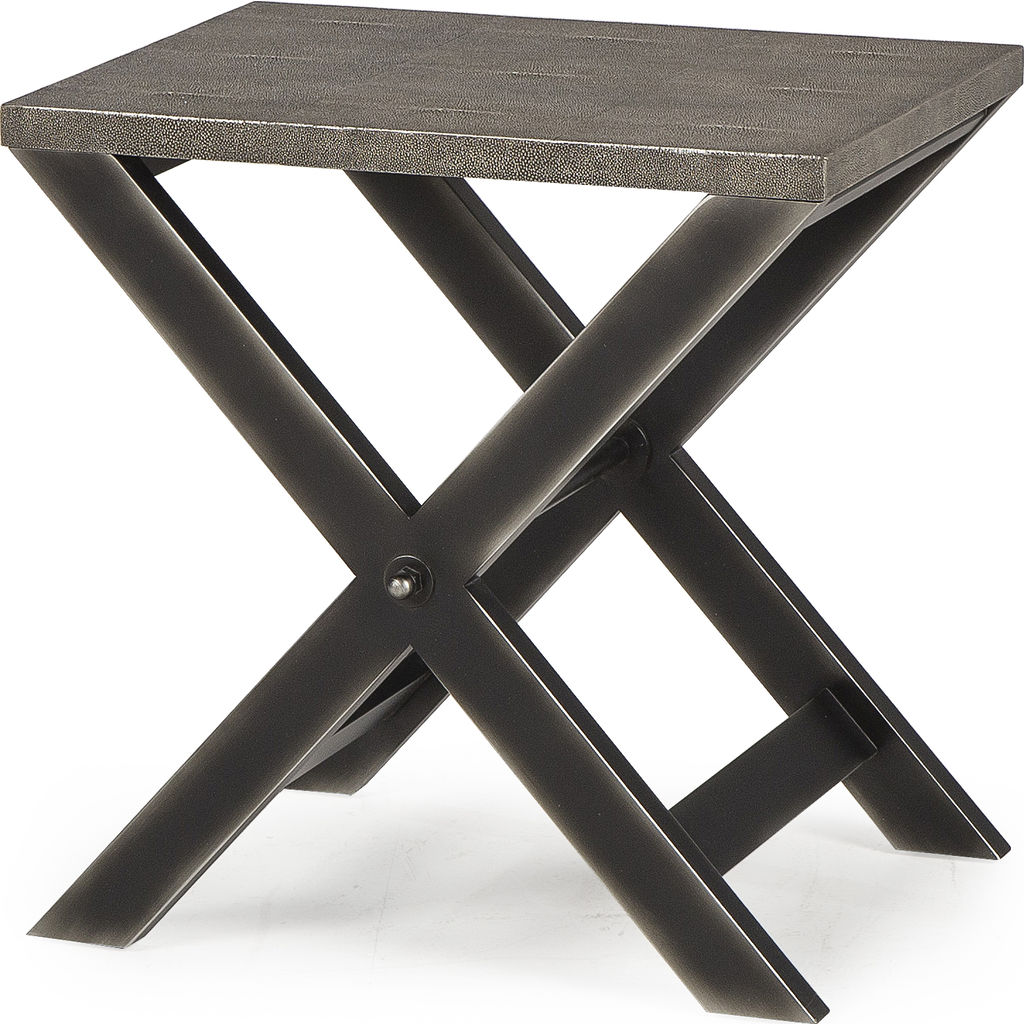 Resource Decor Stanley Side Table | Faux Shagreen