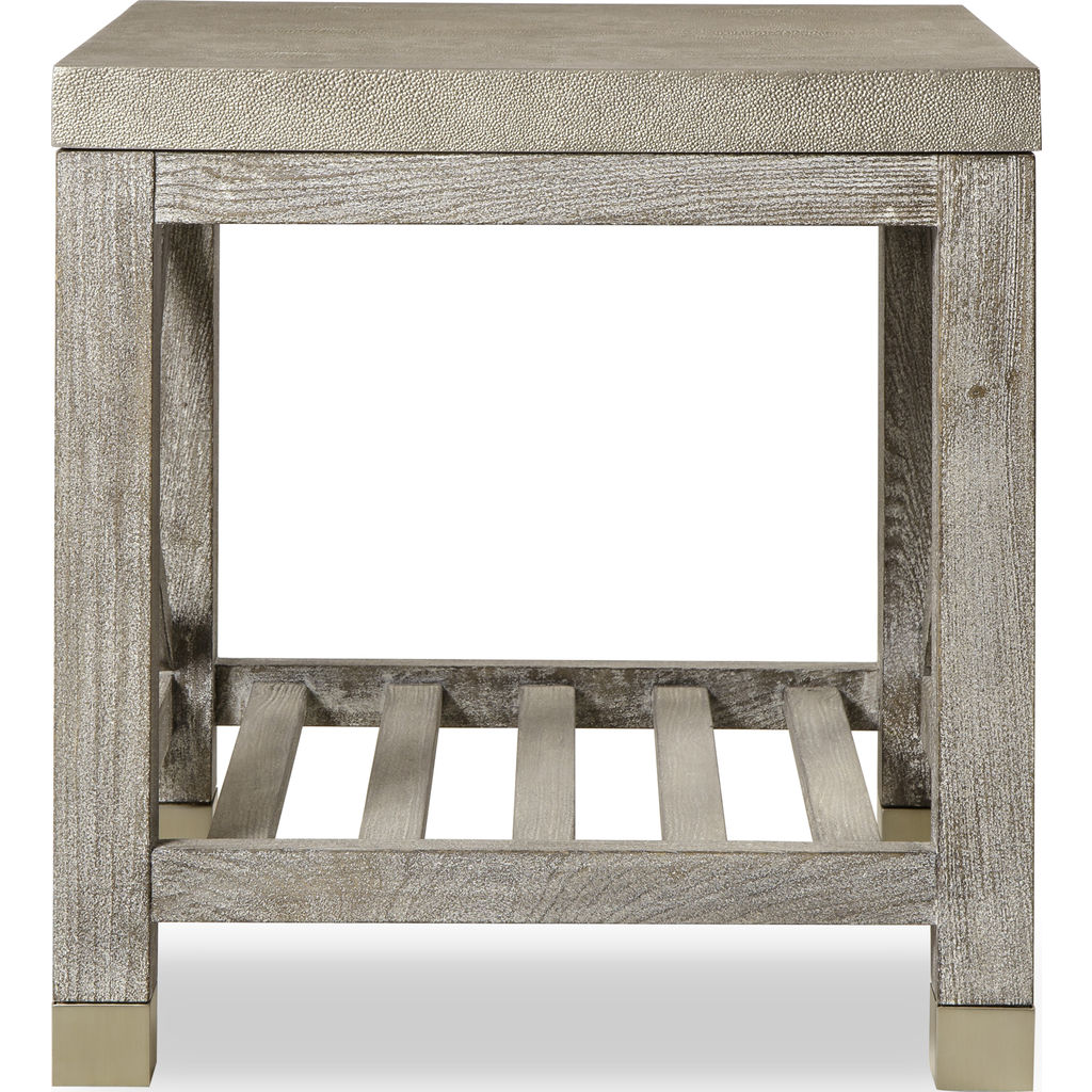 Resource Decor Percival Side Table | Champagne & Washed Gray
