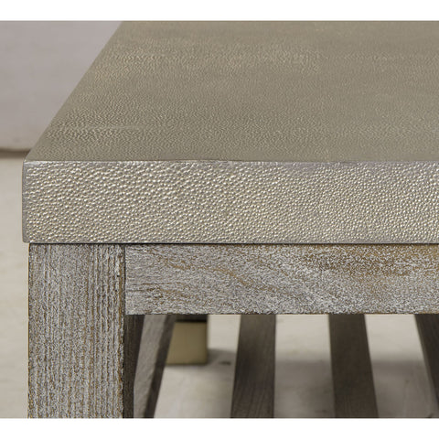 Resource Decor Percival Coffee Table | Shagreen/Washed Grey