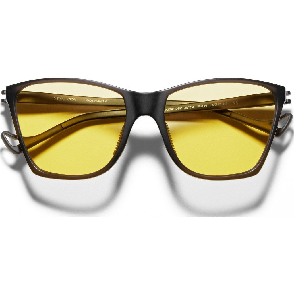 District Vision Keiichi District Sports Yellow Sunglasses | Black