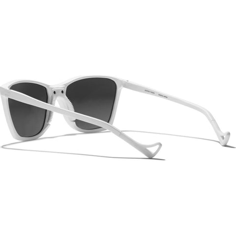 District Vision Keiichi Small White Sunglasses | District Water Gray