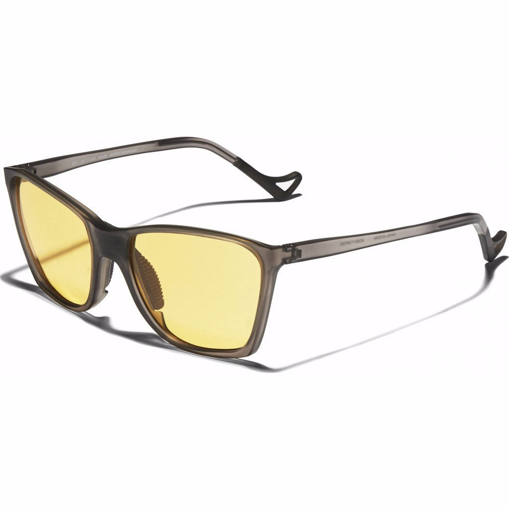 District Vision Keiichi District Sports Yellow Sunglasses | Gray