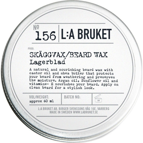 L:A Bruket No 156 Beard Wax | Laurel Leaf 60 ml