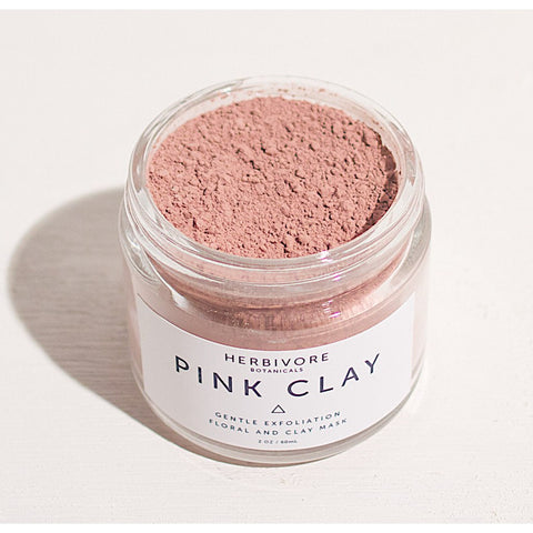 Herbivore Botanicals Pink Clay Exfoliating Dry Mask | 2 oz