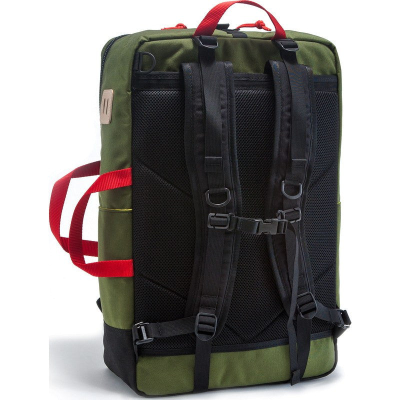 Topo Designs Travel Bag Backpack | Olive/Black
