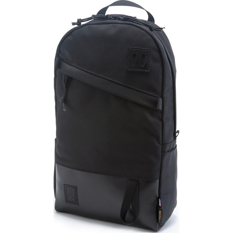 Topo Designs Daypack Backpack | Ballistic/Black Leather