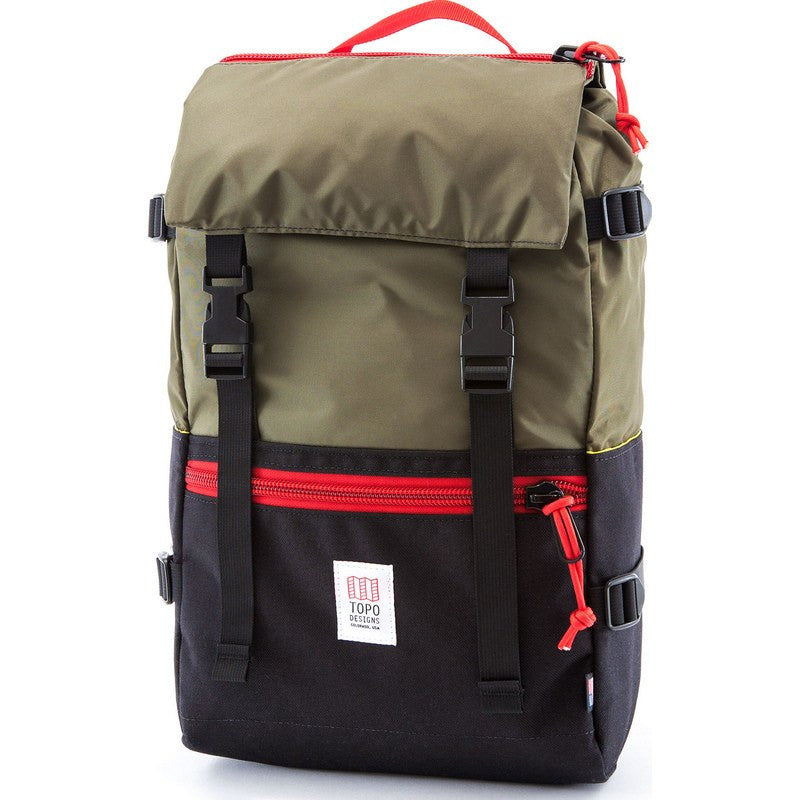 Topo Designs Rover Pack Backpack | Black/Olive