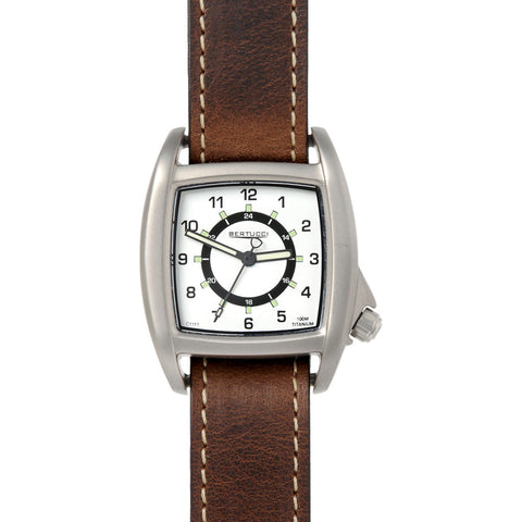 Bertucci C-1T Lusso Field Watch | White/Brown Leather