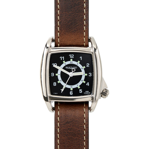 Bertucci C-1T Lusso Field Watch | Black/Brown Leather