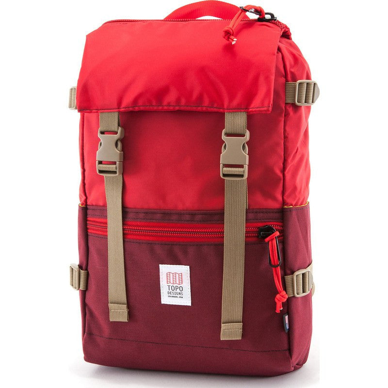 Topo Designs Rover Pack Backpack | Burgundy/Red