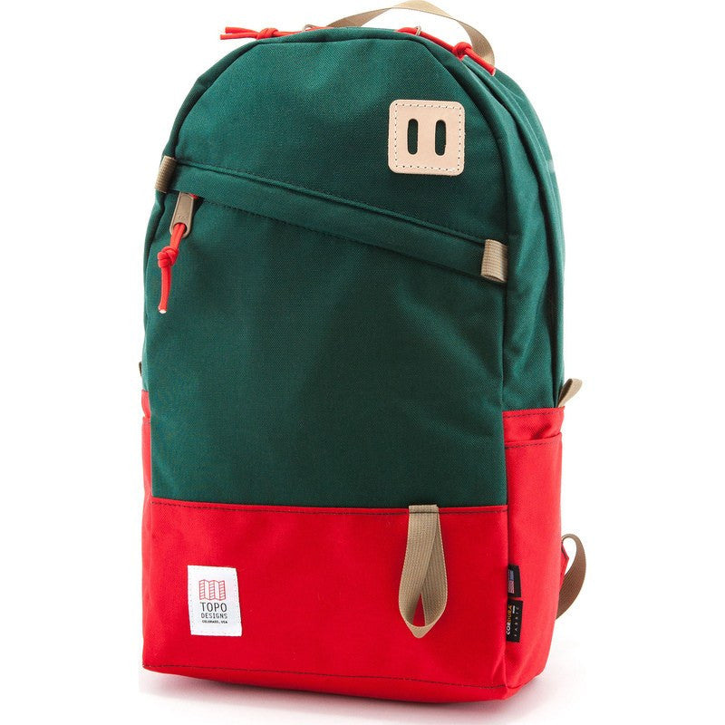 Topo Designs Daypack Backpack | Red/Forest