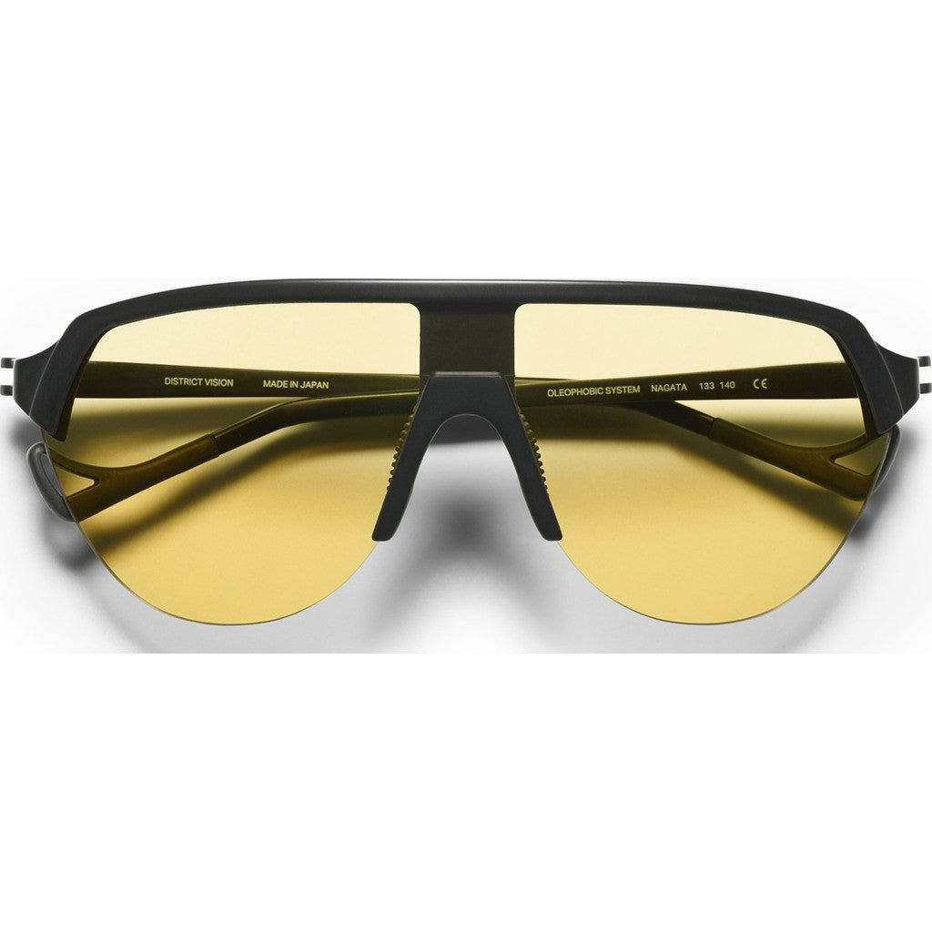 District Vision Nagata Black Sunglasses | District Sports Yellow