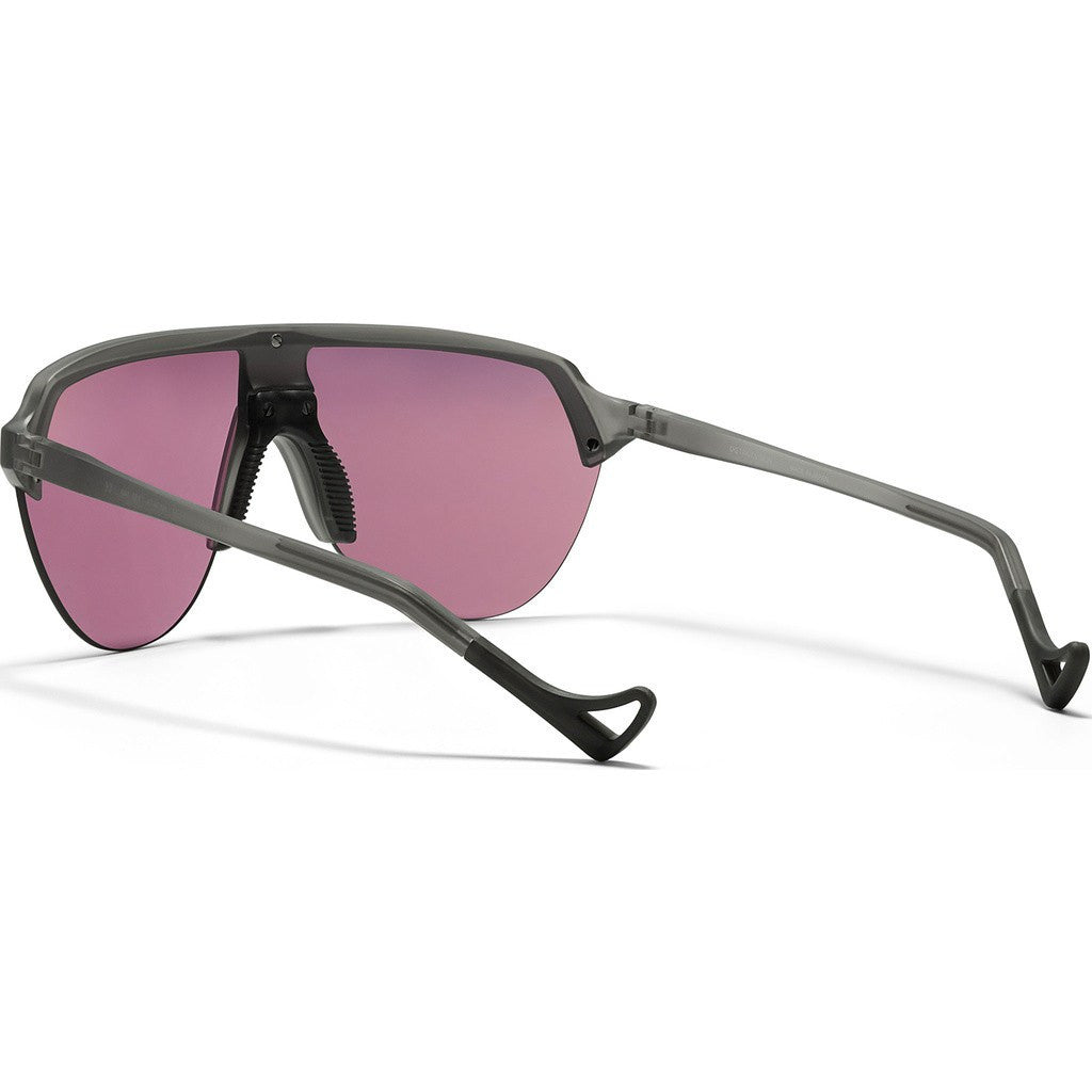 District Vision Nagata Gray Sunglasses | District Black Rose