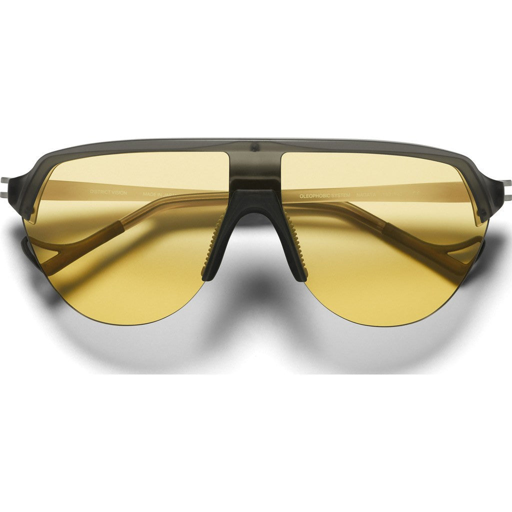 District Vision Nagata Gray Sunglasses | District Sports Yellow