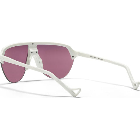 District Vision Nagata White Sunglasses | District Black Rose