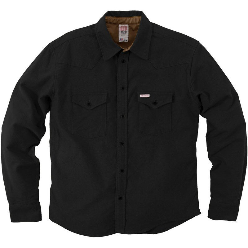 Topo Designs Flannel Mountain Shirt | Black
