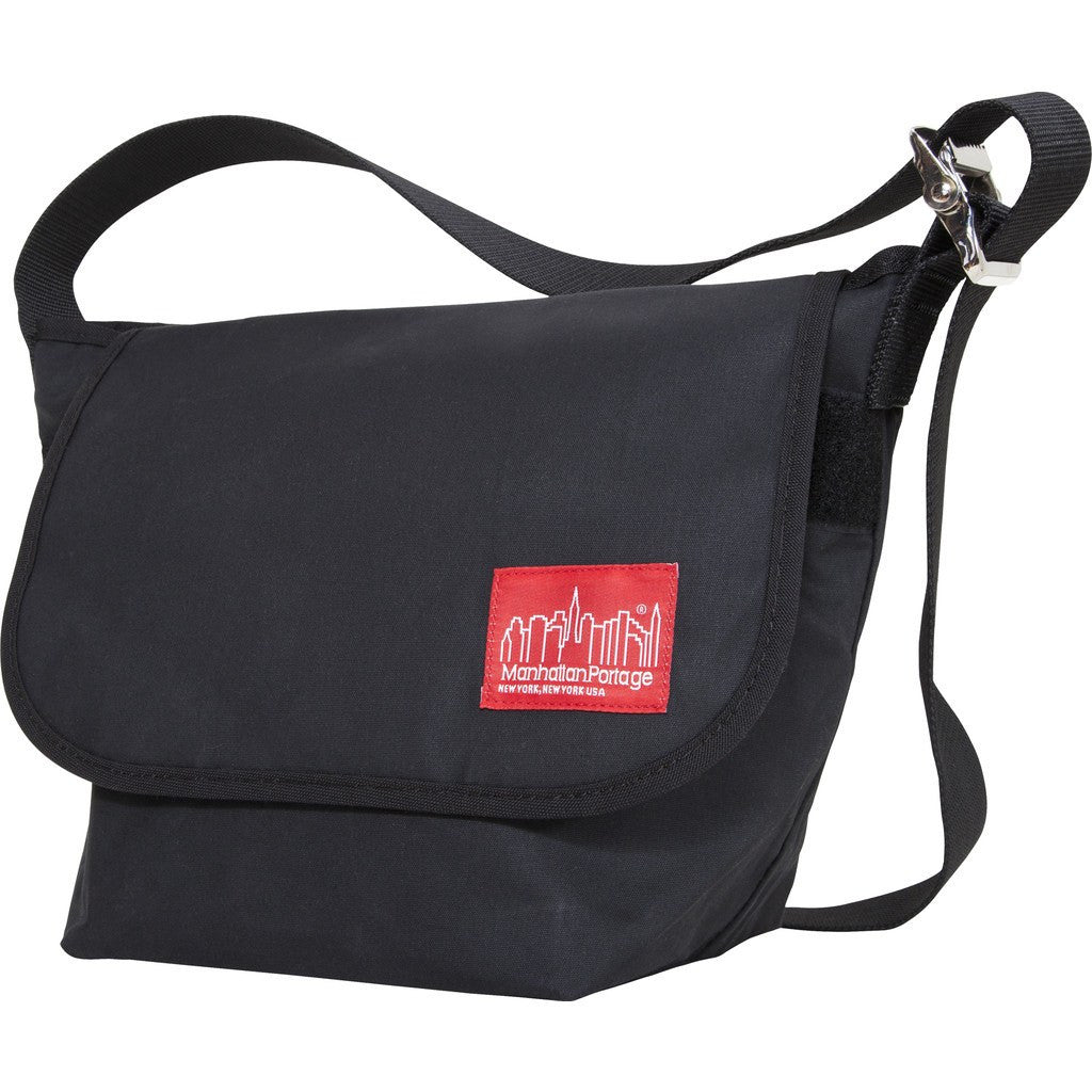 Manhattan Portage Small Waxed Vintage Messenger Bag | 1605V-WP BLK / 1605V-WP DBR / 1605V-WP FTAN / 1605V-WP NVY / 1605V-WP OLV