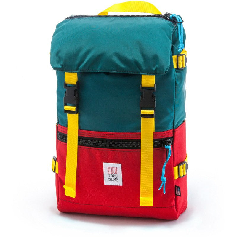 Topo Designs Rover Pack Backpack | Red/Teal