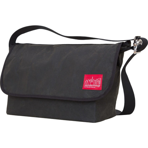 Manhattan Portage Large Waxed Vintage Messenger Bag | Navy 1607V-WCN NVY / Olive 1607V-WCN OLV / Red 1607V-WCN RED
