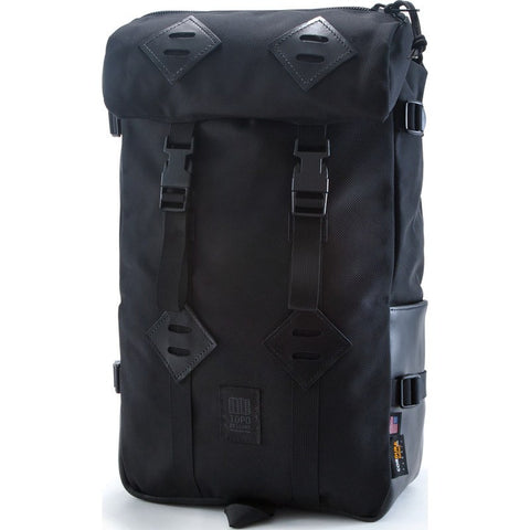 Topo Designs Klettersack 22L Backpack | Ballistic/Black Leather