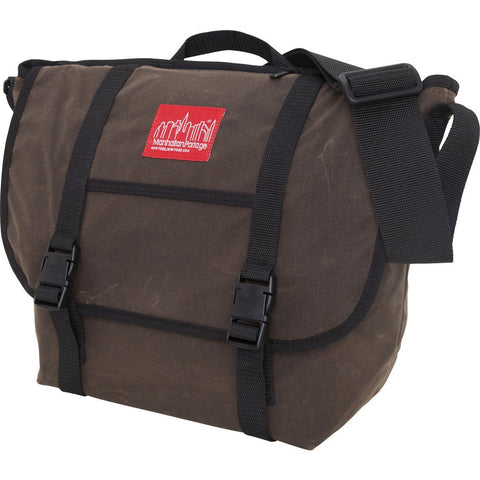 Manhattan Portage Medium Waxed Canvas Messenger Bag | Black 1635 BLK/Dark Brown 1635 DBR/Field Tan 1635 FTAN/Red 1635 RED