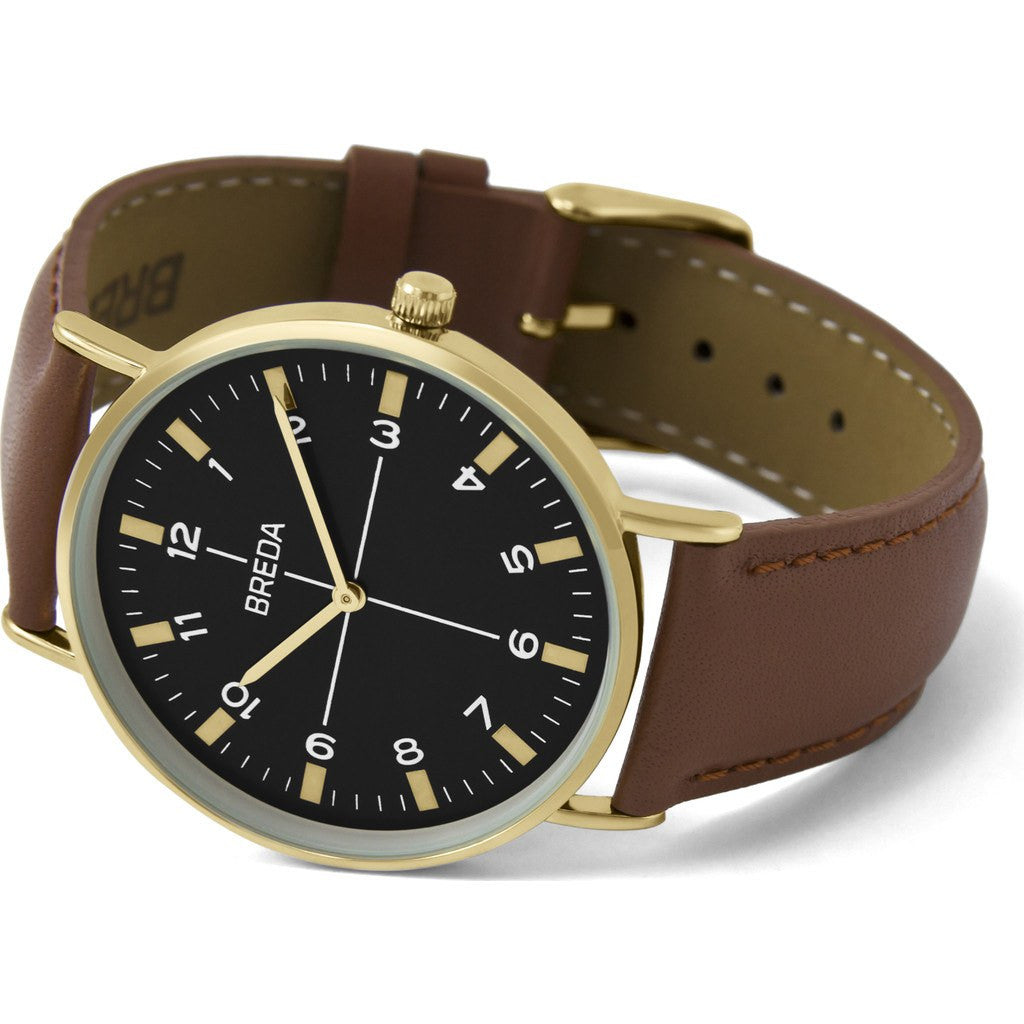 Breda Watches Belmont Watch | Gold/Brown 1646b