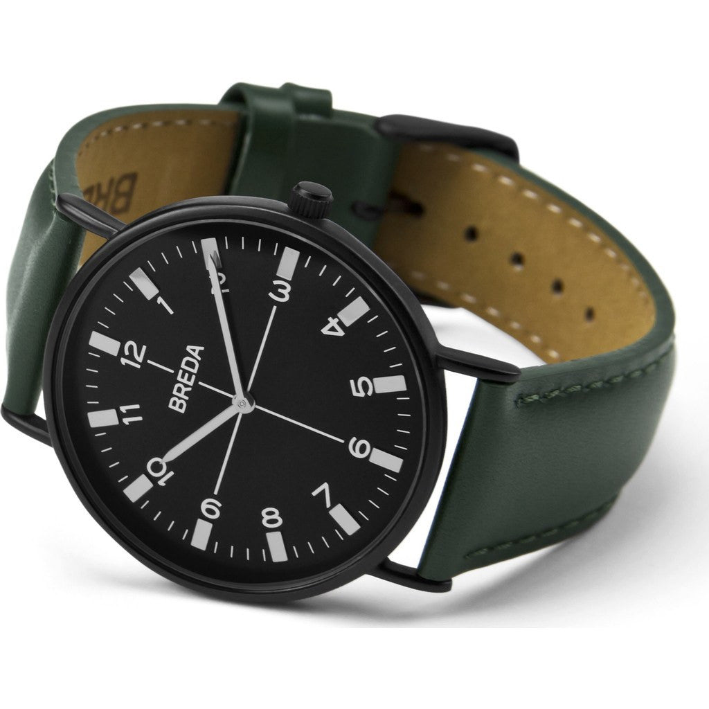 Breda Watches Belmont Watch | Black/Green 1646j