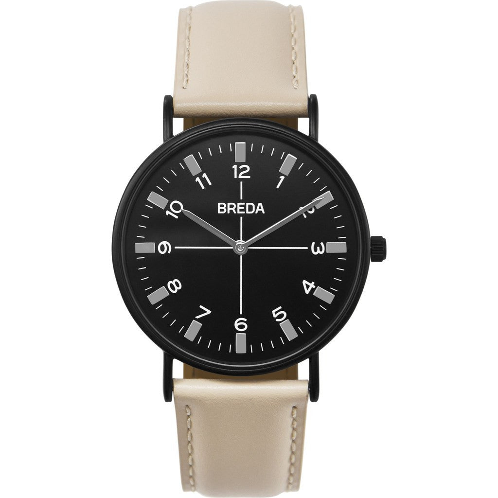 Breda Watches Belmont Watch | Black/Beige 1646k