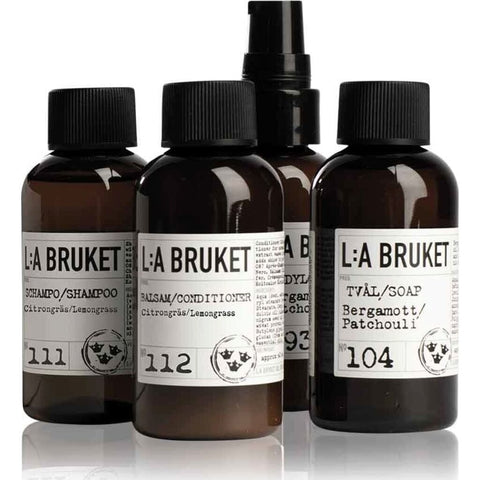 L:A Bruket No 165 Travel Kit | 4 x 60 ml
