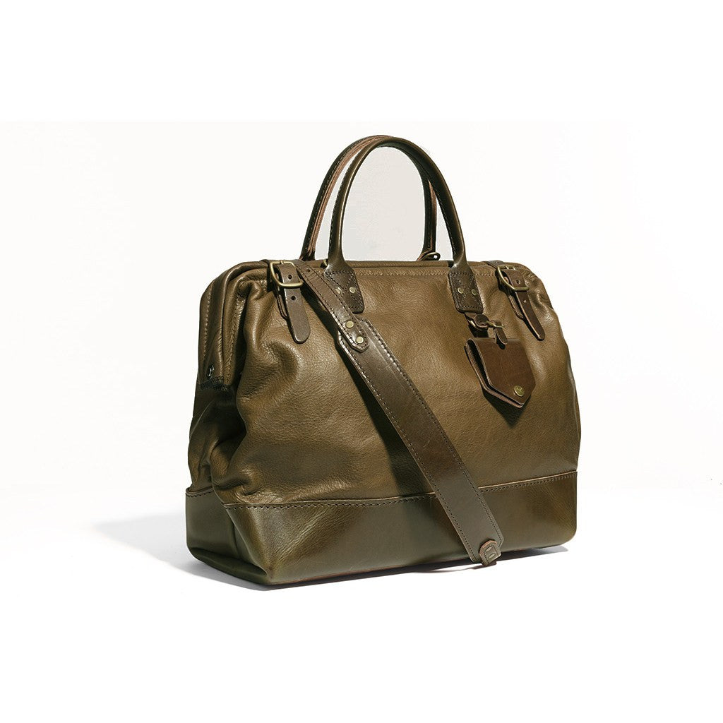 Billykirk No. 165 Medium Carryall Shoulder Bag | Olive Leather