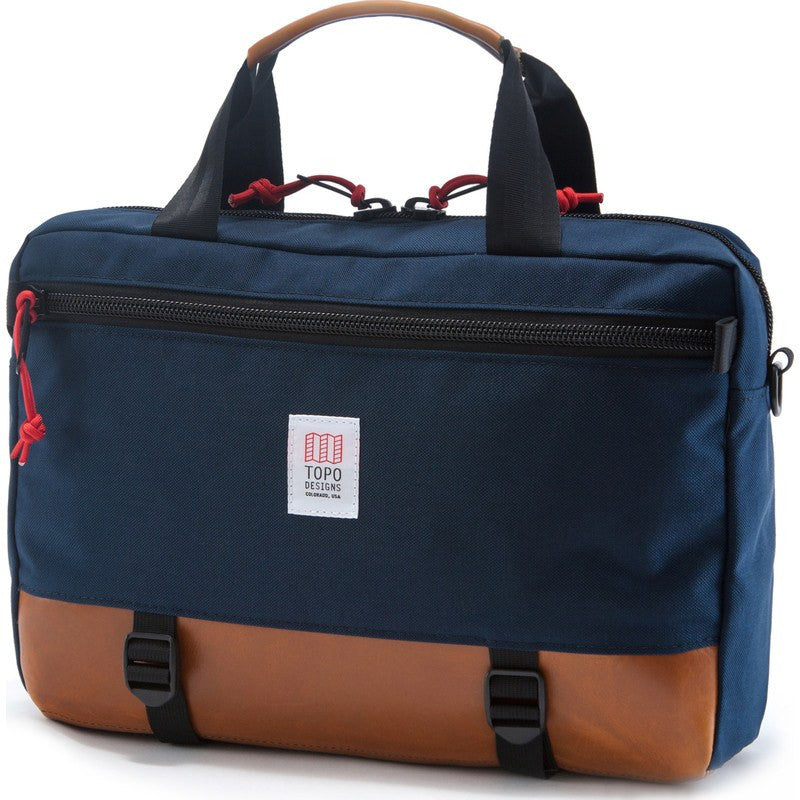Topo Designs Commuter Briefcase | Navy/Leather