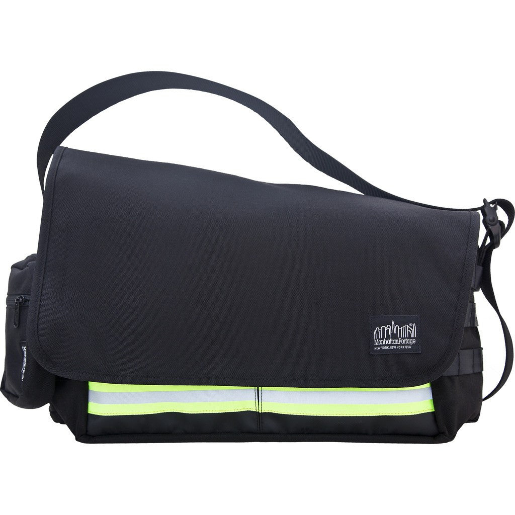 Manhattan Portage Medium Trinity Messenger Bag | Black 1650-BL BLK / Grey 1650-BL GRY