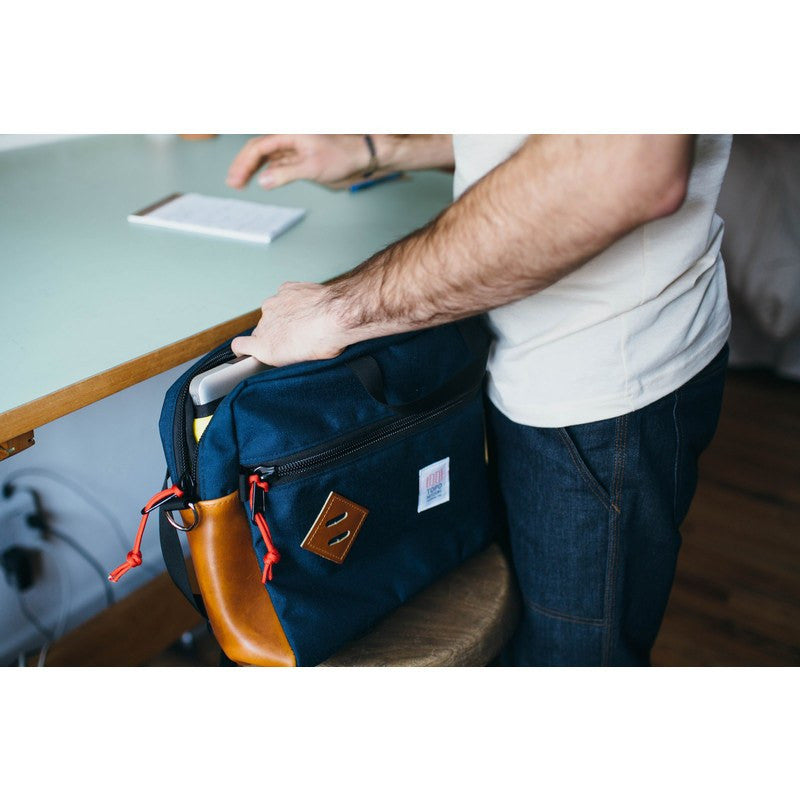 Topo Designs Mountain Briefcase | Navy/Leather