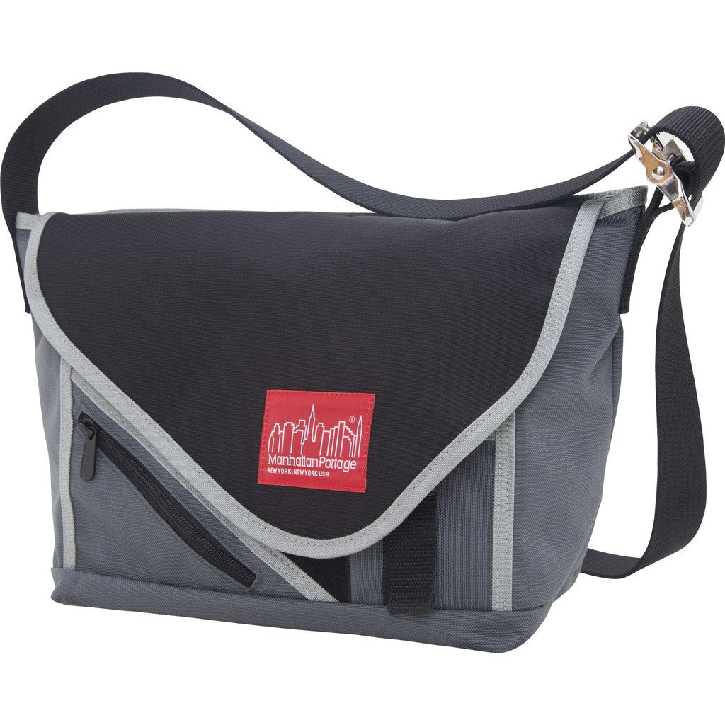 Manhattan Portage Small Flatiron Messenger Bag | 1655 DBR/CAM/BLK | 1655 GRY/BLK/SIL | 1655 GRY/GRY/BLK | 1655 NVY/NVY/BLK | 1655 PRP/BLK/SIL | 1655 RED/BLK/SIL | 1655 RED/RED/BLK