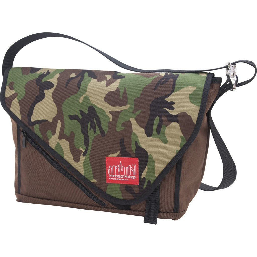 Manhattan Portage Medium Flatiron Messenger Bag | 1656 DBR/CAM/BLK | 1656 GRY/BLK/SIL | 1656 GRY/GRY/BLK | 1656 NVY/NVY/BLK | 1656 PRP/BLK/SIL | 1656 RED/RED/BLK