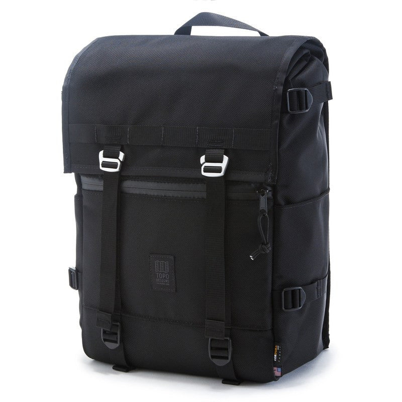 Topo Designs Flap Pack Backpack | Ballistic Black
