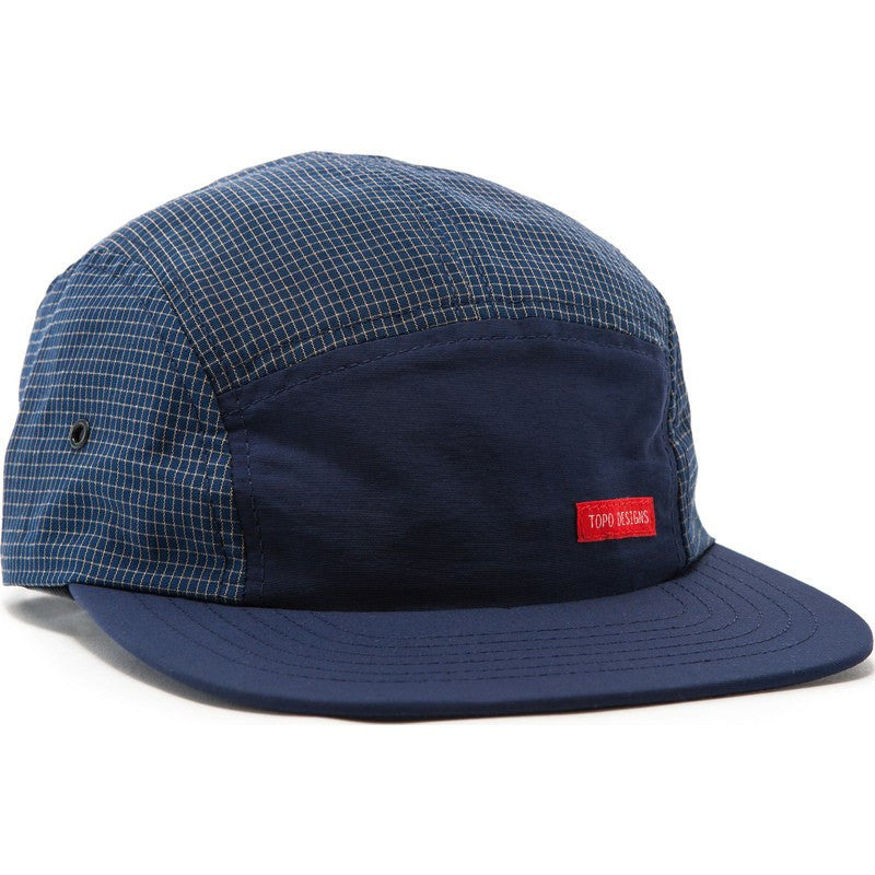 Topo Designs Nylon Camp Hat | Navy Grid