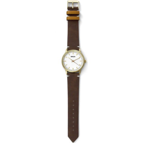 Breda Watches Zapf Watch | Gold/Brown 1697a