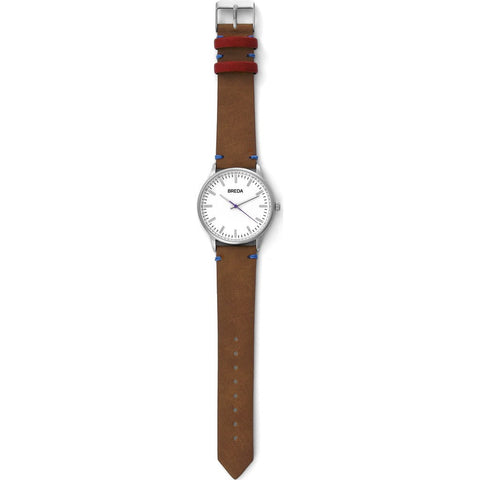 Breda Watches Zapf Watch | Silver/Light Brown 1697c