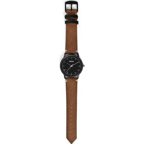 Breda Watches Zapf Watch | Black/Brown 1697h
