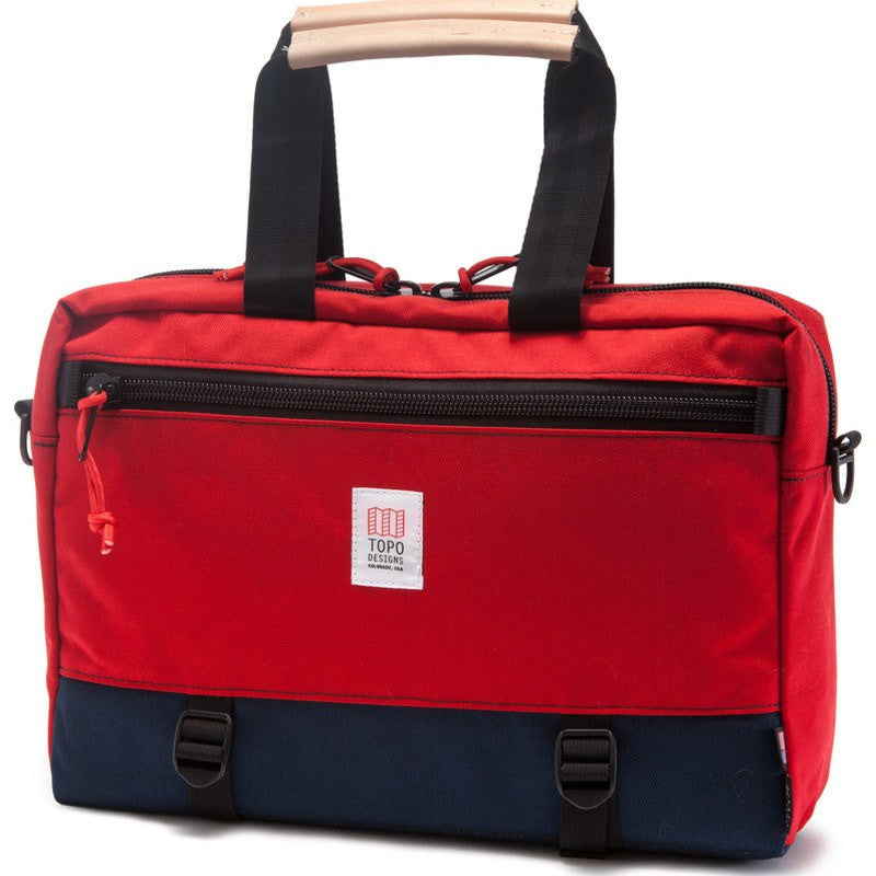 Topo Designs Commuter Briefcase | Navy/Red