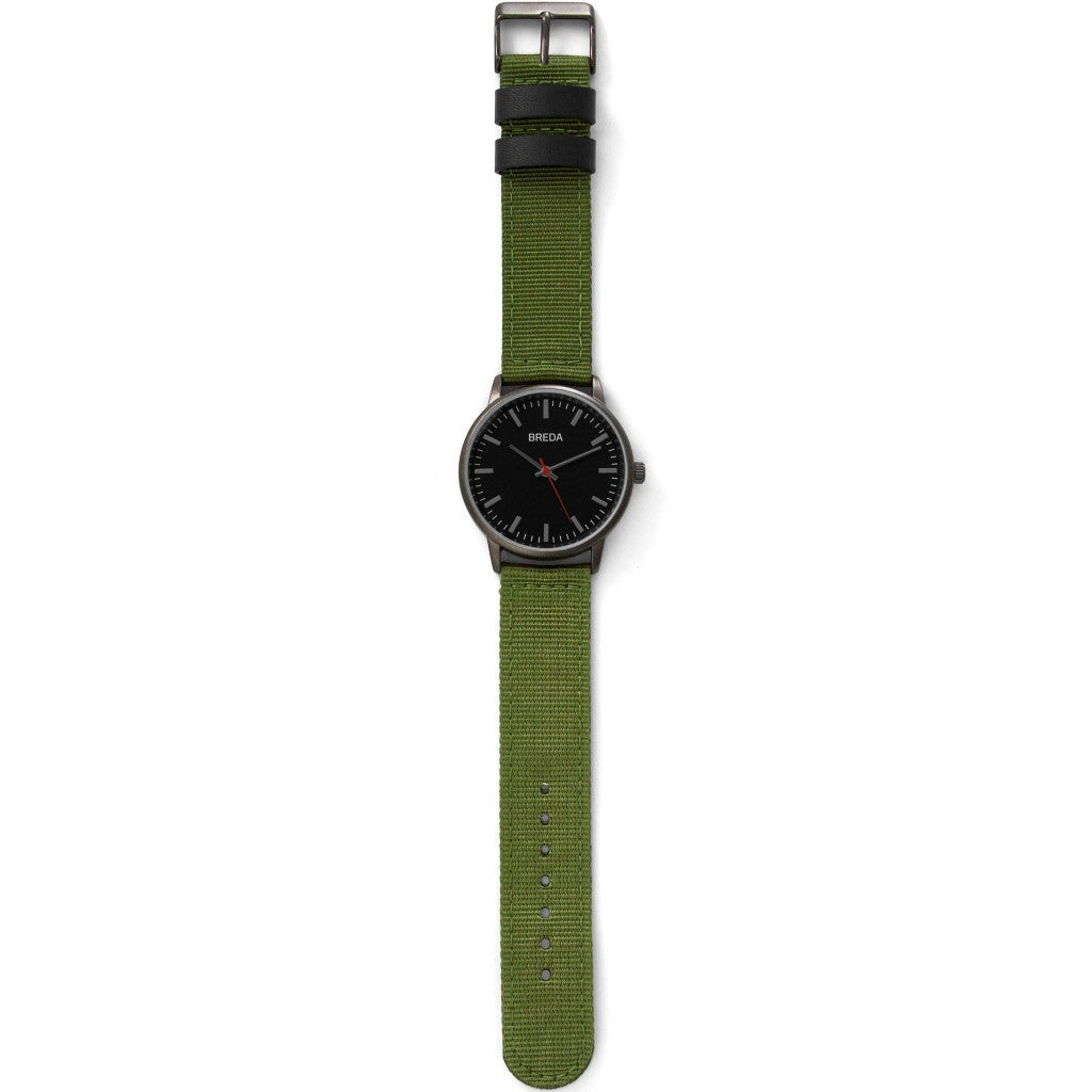 Breda Watches Valor Watch | Gunmetal/Green 1707b