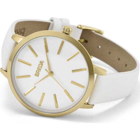 Breda Watches Joule Watch | Gold/White 1722c