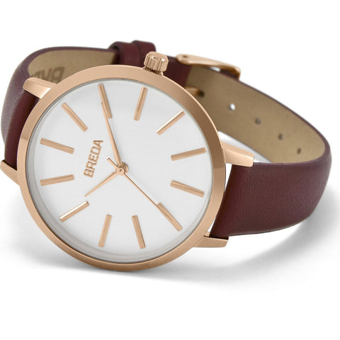 Breda Watches Joule Watch | Rose Gold/Maroon 1722d