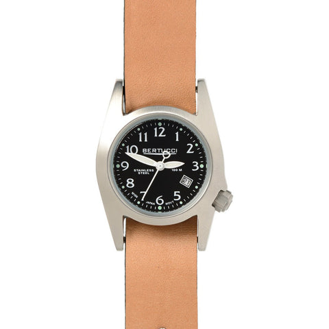Bertucci M-1S Women's Field Watch | Black/Heritage British Tan Leather 18013